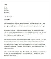 31+ Offer Letter Templates – Free Word, PDF Format Download ... This offer letter template for external candidates by the Dean has space for date, name and title of candidate, address, and job offer, salary, joining date ...