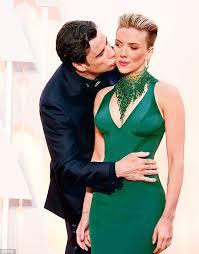 John Travolta kissing Scarlett Johansson immortalized thanks to ... via Relatably.com