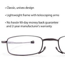DOUBLETAKE 2 Pairs of Metal Compact <b>Folding Reading Glasses</b> ...