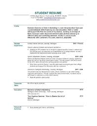 resume samples for student   template   templateresume samples for student