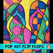 Small Picture Pop Art Interactive Flip Flops Great End of the Year Activity