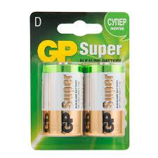<b>Батарейка GP</b> Batteries Super <b>D</b> LR20 1,5 <b>В</b> (2 шт.) — купить <b>в</b> ...