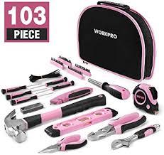 <b>WORKPRO</b> 103-Piece Pink Tool Kit - Ladies <b>Hand Tool</b> Set with ...