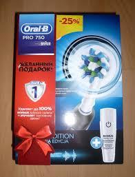 Обзор от покупателя на Электрическая <b>зубная щетка Oral-B</b> PRO ...