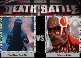 DeviantArt: More Like Meme: Death Battle: Godzilla vs Colossal ... via Relatably.com