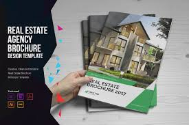 real estate brochure v4 brochure templates on creative market