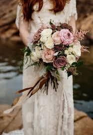 blush toned bridal bouquet with roses and astilbe elegant rustic wedding ideas brilliant 12 elegant rustic