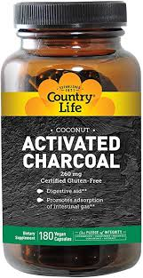 Country Life - <b>Activated Charcoal 260</b> mg. - 180 Capsules: Amazon ...