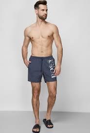 Мужские серые <b>плавательные шорты BOSS</b> 50371268;024 ...