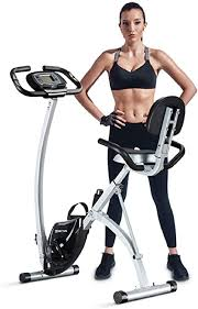 BCAN <b>Folding Exercise Bike</b>, Magnetic Upright <b>Bicycle</b> with Heart ...