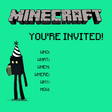 top minecraft birthday party invitations that be you are minecraft birthday party invitations which can be used as extra astounding birthday invitation design ideas 209201612
