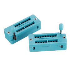 <b>2pcs IC Lock</b> Seat Zif Socket Test Universal zif Sockets 18Pin ...