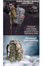 50L <b>Outdoor</b> Mountaineering <b>bag</b> Nylon <b>Bag</b> Military <b>Men Backpack</b> ...