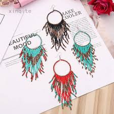 <b>Bohemian style</b> Glass Seed Beads earings for women pendientes ...