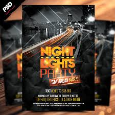 night lights flyer template is a % photoshop psd flyer night lights flyer template is a 100% photoshop psd flyer poster template designed