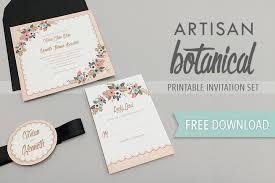 artisan botanical free printable wedding invitation Free Printable Wedding Cards Download free invitation template free printable wedding invitations templates downloads
