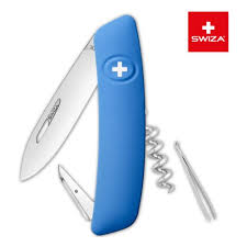 <b>Нож швейцарский SWIZA D01</b> Standard, 95 мм, 6 функций, синий ...