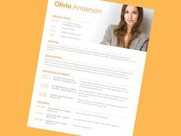 resume examples cv template in open office  amp  word    simple resume format