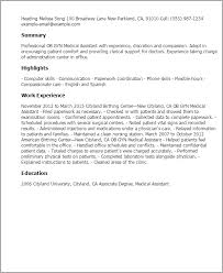professional ob gyn medical assistant templates to showcase your    resume templates  ob gyn medical assistant