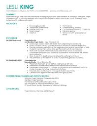 wellness resume examples wellness sample resumes livecareer yoga instructor resume example