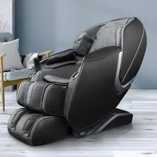 Osaki OS-Aster <b>Grey Faux</b> Leather Reclining <b>Massage Chair</b> in ...