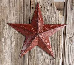 metal star wall decor: barn star wall decor makipera red metal embossed barn star barn star wall decor makipera