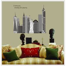 liberty bedroom wall mural: casterlyrockstatue of liberty removable home decor wall stickers for living room bedroom decoration pared pegatinas sticker