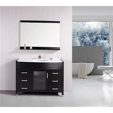 element contemporary bathroom vanity set: b ds w design element b ds w stanton quot single sink vanity set with marble top in white and mirror goingdecor