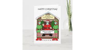 Covid 19 <b>Christmas Cartoon</b>, Santa's Grotto. Card | Zazzle.com