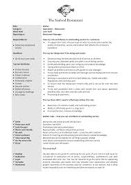 cv example waitress job  seangarrette cocv