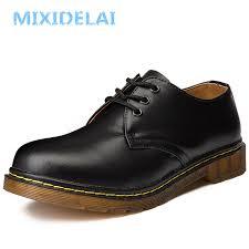 <b>MIXIDELAI</b> New Big Size Brand <b>Genuine Leather</b> Men Shoes Spring ...