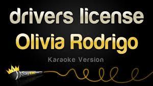 Olivia Rodrigo - drivers license (<b>Karaoke</b> Version) - YouTube