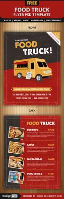 restaurant and food menu flyer templates designyep food truck flyer psd template