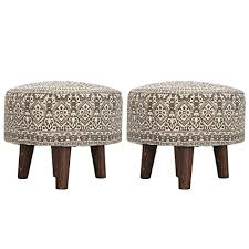 Nestroots Stool <b>Pouffe</b>, Puffy, Ottoman, Footrest, <b>Printed</b> with ...