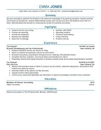 unforgettable tax preparer resume examples to stand out    tax preparer resume sample