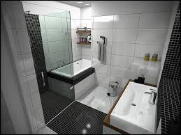 ideas small bathrooms shower sweet: modern black white rectangular bathtub combined with shower room with transparent glass small bathroom door