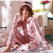 JULY'S SONG <b>Women</b> Cotton <b>Pajamas Sets</b> Spring Autumn Winter ...