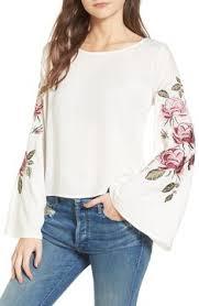 <b>Flower</b> Applique Mesh Sleeve Top <b>Color</b>:<b>Pink</b>,Pastel Material:100 ...