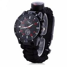 <b>Multifunction Paracord Watch</b>   Products   <b>Survival watch</b>, Watches ...