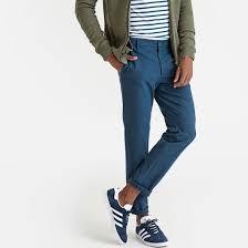 "Slim fit suit trousers, length 32"" navy blue <b>La Redoute</b> Collections ..."