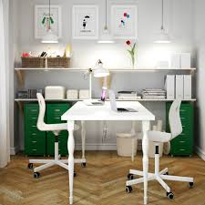 white office desk ikea a white home office with white linnmon table for two vagsberg sporren awesome office desks ph 20c31 china