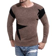 <b>Men's</b> Round Neck Color Casual Long Sleeve Sweater Sale, Price ...