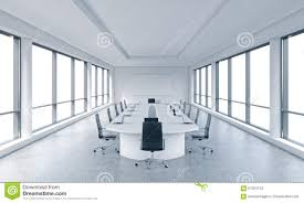 a bright modern panoramic meeting room in a modern office with white copy space in windows bright modern office space
