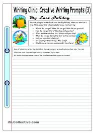 images about grade   creative writing on Pinterest Writing Clinic  Creative Writing Prompts       My Last Holiday