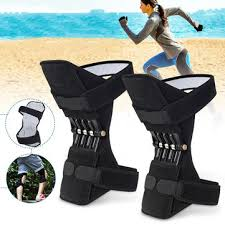 <b>1 pair</b> knee support power lift <b>spring</b> joint brace pads breathable ...