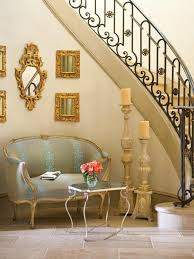 country living room ci allure: tropical glamour ci allure of french and italian decor staircase seating area pg xjpgrendhgtvcom