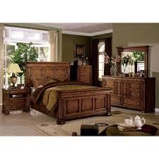 piece emmaline upholstered panel bedroom: furniture of america claresse traditional  piece tobacco oak panel bedroom set