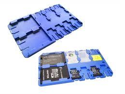 <b>Футляр REFI Holder SD</b> / microSD SIM Blue | www.gt-a.ru