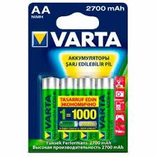 Аккумуляторные <b>батарейки VARTA</b> 5706 <b>AA</b> 2700 мАч BL4 4шт ...