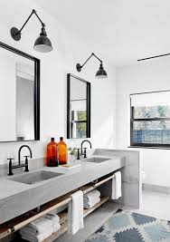 dwell bathroom cabinet:  examples of bathroom vanities that have open shelving the custom made concrete vanity